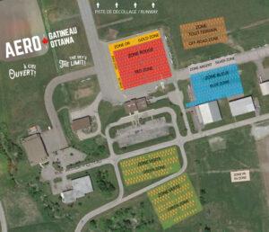 Site Map of Aero Gatineau-Ottawa 2021